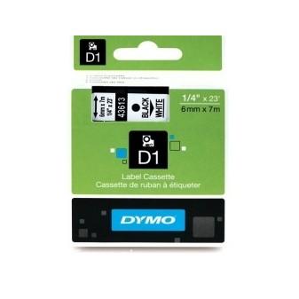 Dymo páska D1 43613 6mm/7m white/black