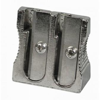 Ořezávátko kovové, hliník – na 2 tužky