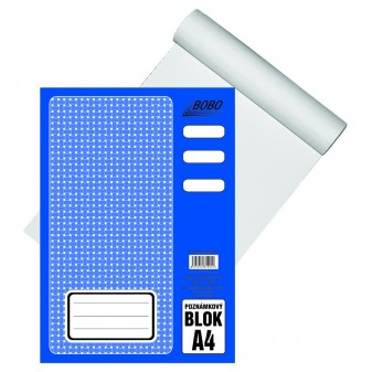 Blok A4/50 listů lepený čistý Bobo 12012