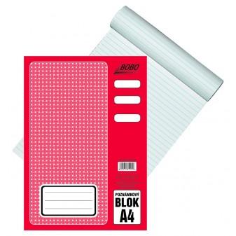 Blok A4/50 listů lepený linka Bobo 12029