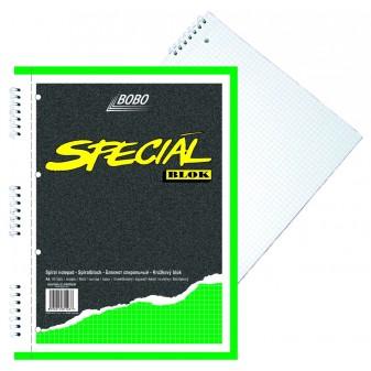Blok A4/50 listů spirála boční čtvereček speciál Bobo 15037