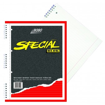 Blok A4/50 listů spirála boční linka speciál Bobo 15020