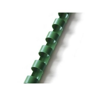 Plastové hřbety pro vazbu 19 mm - zelené