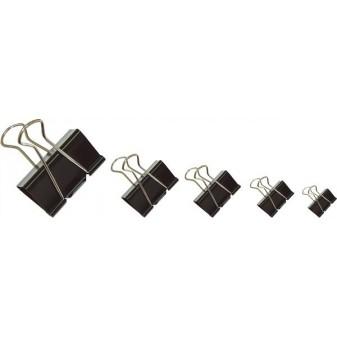 Klipy na dokumenty 19mm binder černá