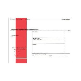 Obálky B6 s dodejkou, vytrhovací okénko - s červeným pruhem / 1000 ks