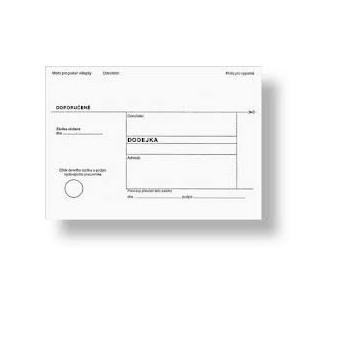 Obálky B6 s dodejkou samopropisovací - bílá / 1000 ks