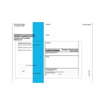 Obálky C5 s doručenkou, vytrhovací okénko - s modrým pruhem / 1000 ks