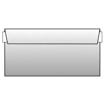 Obálky DL samolepicí s krycí páskou - bez okénka / 1000 ks