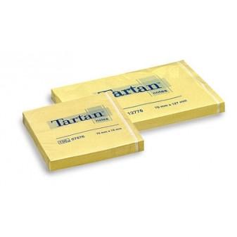 Samolepicí bločky Tartan - 51 x 76 mm / 100 lístků