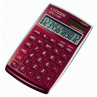 Kalkulačka Citizen CPC - 112 - displej 12 míst/červená