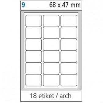 Print etikety A4 pro laserový a inkoustový tisk - 68 x 47 mm (18 etiket / arch)