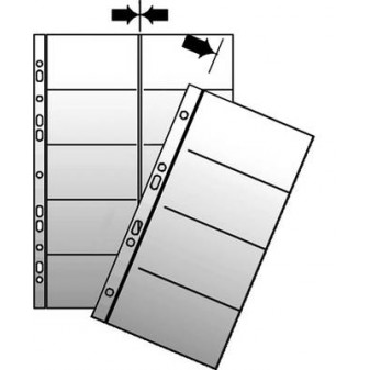 Náhradní obal do kroužkových vizitkářů - náhradní kapsy A5 / 10 ks