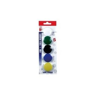 Magnety - průměr 30 mm / barevný mix / 5 ks