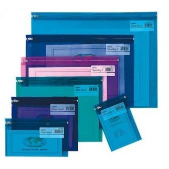 Desky spisové na zip Electra - A4 / barevný mix