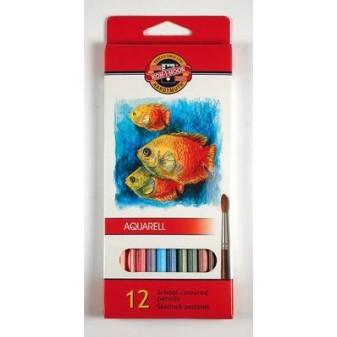 Aquarelové pastelky Mondeluz - 12 barev