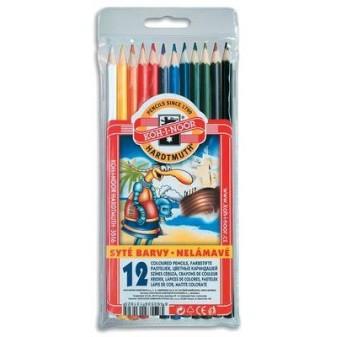 Pastelky nelámavé - 12 barev