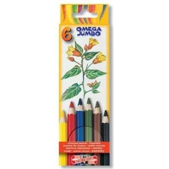 Pastelky Omega silné - 6 barev