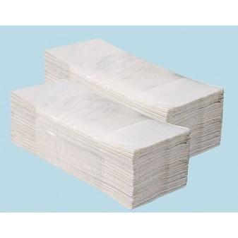 Ručníky skládané bílé - ručníky bílé / dvouvrstvé / 200 ks