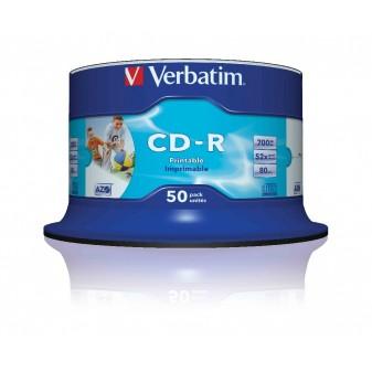 CD - R Verbatim - CD bez krabiček / Spindle / 50 ks