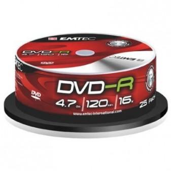 DVD - R / bez krabiček / spindl / 25 ks