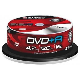 DVD+ R / bez krabiček / spindl / 25 ks