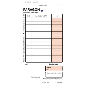 Paragon Optys - blok 75 mm x 150 mm / číslovaný 2 x 50 listů NCR / 1089