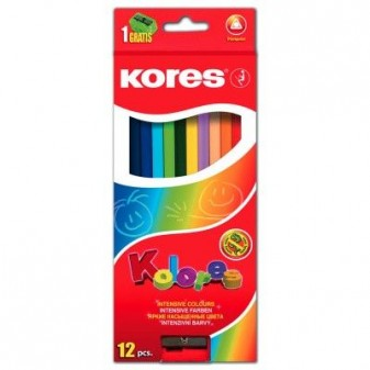 Pastelky trojhranné - 12 barev