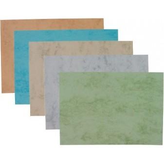 Desky pro kroužkovou vazbu zadní- imitace kůže - Zelená