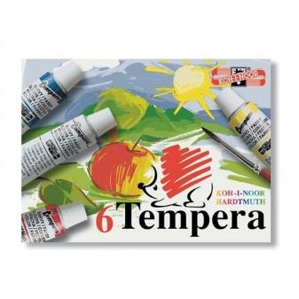 Barvy temperové 16 ml 10 ks Koh-i-noor mix barev