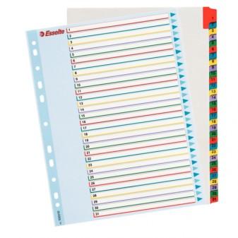 Rejstřík kartonový A4 1–31 Esselte 100164 Mylar
