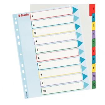 Rejstřík kartonový A4 1–10 Esselte 100161 Mylar
