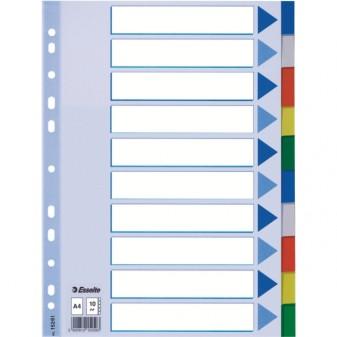 Rozlišovač plastový A4 10listů Esselte 15261 mix barev