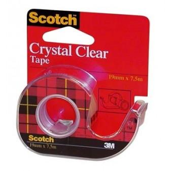 Lepící páska Scotch Crystal Clear čirá se zásobníkem